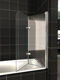 glass over bath shower door panel folding screen 1400 u0026 seal ebay