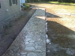 Seamless Stamped Concrete Pictures by Stamped Concrete Front Walkway U2013 Norcon Construction Inc