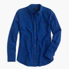 boy shirt in crinkle gingham women u0027s shirts j crew