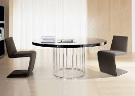 Circular Glass Dining Table And Chairs Best Round Contemporary Dining Table Pictures All Contemporary