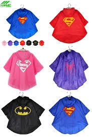 visit to baby kids rain coat superman batman spiderman