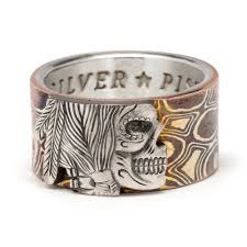 mokume gane mokume gane hobo nickel ring silver piston