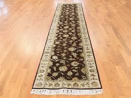 2 X 12 Runner Rug 2 U00276 U0027 U0027x12 U00271 U0027 U0027 Hand Knotted Half Wool Half Silk Rajasthan Runner Rug