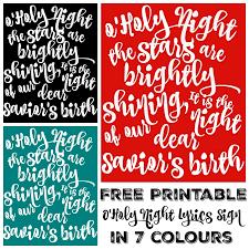 printable lyrics free printable o holy night lyrics sign art the happy housie