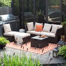 Sectional Outdoor Furniture Clearance Belham Living Monticello All Weather Outdoor Wicker Sofa Sectional