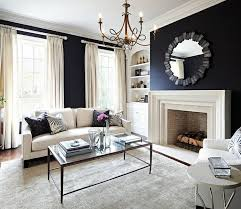 Black Paint For Fireplace Interior Black Wall Paint Brings Charm And Drama In The Interior Design