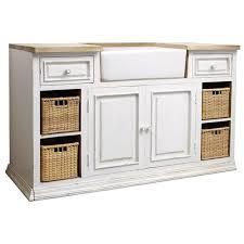 meuble bas pour cuisine bas de cuisine avec évier en manguier ivoire eleonore