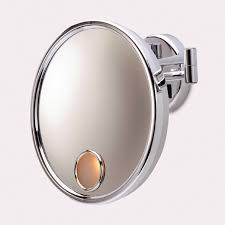 lighted makeup mirror wall mount battery operated vanity decoration