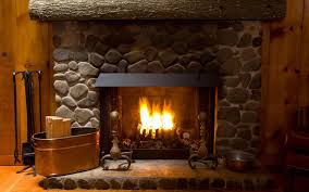 classic fireplace for interior home design come with stone