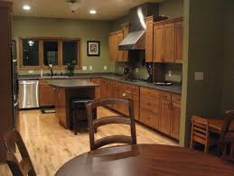 honey oak kitchen cabinets with granite countertops kitchen wall