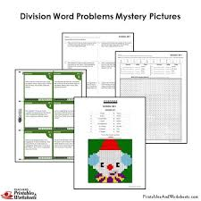 division grade 4 4th grade division word problems mystery pictures coloring