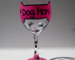 Wine Glass Decorating Ideas Four Hand Painted Wine Glasses Polka Dot Wine Glasses Custom