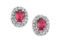 diamond stud earrings uk fashion 9ct white gold solid ruby pave diamond stud earrings uk