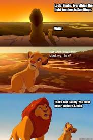 San Diego Meme - look simba everything the light touches is san diego wow