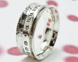 worry ring custom personalized duck band ring sted wedding ring