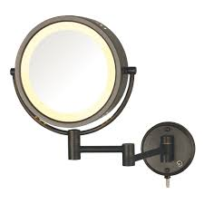 jerdon 8 in dia wall mount mirror in chrome jp7506cf the home depot