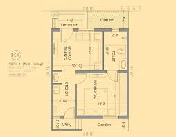 30 x 70 west facing house plans