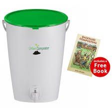 bokashi urban composter green with free backyard composting book