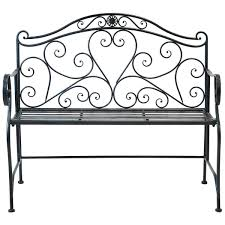 bentley garden white wrought iron bench buydirect4u