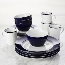 maison cobalt blue 16 dinnerware set crate and barrel