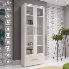 Solid Wood Bookcases With Glass Doors White Bookcase With Drawers 5 Shelves White Solid Wood Bookcase 2
