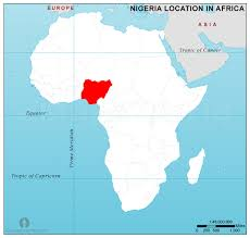 map of nigeria africa nigeria location map in africa nigeria location in africa