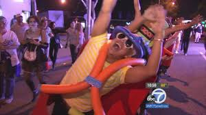 west hollywood halloween party west hollywood halloween carnaval attracts thousands abc7 com
