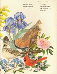 the 1982 fifty state birds and flowers mint set u s postal