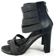 brunello cucinelli black monili ankle strap sandal heels it 38 5