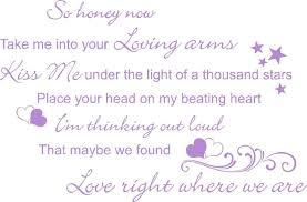 ed sheeran lyrics quotes ed sheeran thinking out loud song music lyrics quote sticker wall