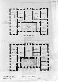 Georgian Mansion Floor Plans 801 Best Floorplans Images On Pinterest Vintage Houses House
