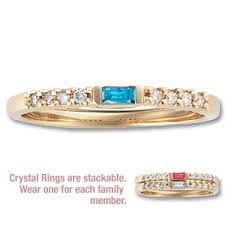stackable birthstone rings stackable ring with diamond accents with 1 genuine