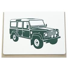vintage land rover defender vintage landrover folding card u2013 dogwood letterpress