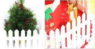 2017 christmas decoration fence wood white foldable festival gift