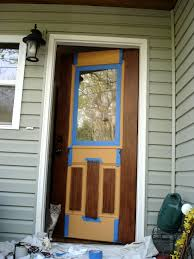 great instructions on how to paint a faux wood door dyi