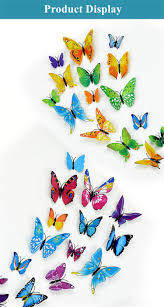 Butterfly Wall Decals For Kids Rooms by 3d Plastic Butterfly Wall Stickers Decals For Kids Room Adhesive
