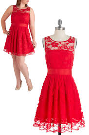 red lace a line custom jewel neckline plus size bridesmaids