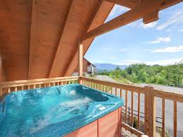 luxury cabin with 2 master suites game room pool table and