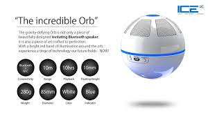 ice orb floating bluetooth speaker white blue amazon in