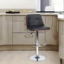 Amazon Com Wohomo Swivel Barstool Adjustable Bar Height Leather