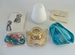 vintage 1970s u0027bangled angel u0027 christmas tree ornament craft kit by