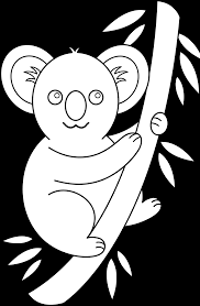 cartoon koala colouring pages clip art library