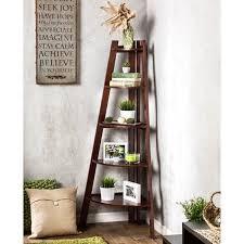 Imagine B Bookshelf Furniture Of America Kiki 5 Tier Corner Ladder Display Bookcase