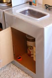 Kitchen Sink Furniture Tutorial Cardboard Play Kitchen Sink