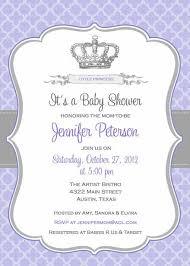 baby shower invitation princess crown belleprintables