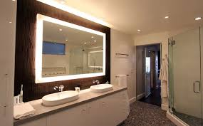 Large Bathroom Mirror With Lights How To A Modern Bathroom Mirror With Lights