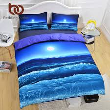 beddingoutlet moon and ocean bedding set cool 3d printed duvet
