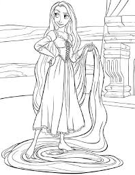 tangled coloring pages disney u0027s princess rapunzel kids