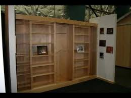 sliding bookcase murphy bed the best bookcase murphy bed youtube