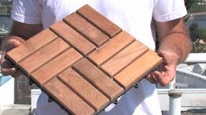 Interlocking Slate Patio Tiles by How To Install Deck Tiles Youtube